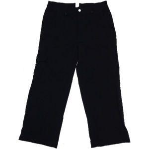Lucy activewear flex cargo Capri roll cuff black M